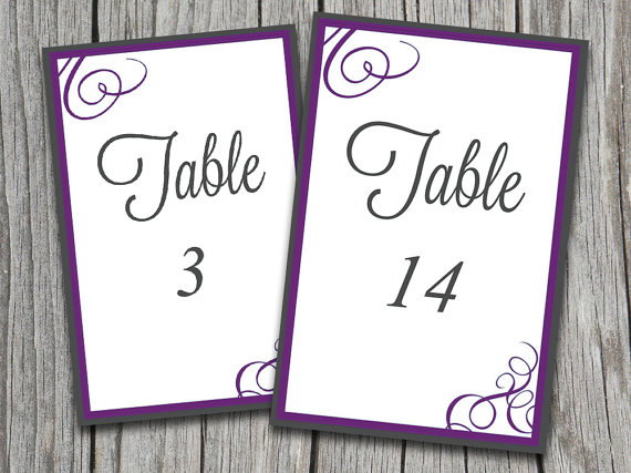 instant download bordered flourish amy table number cards