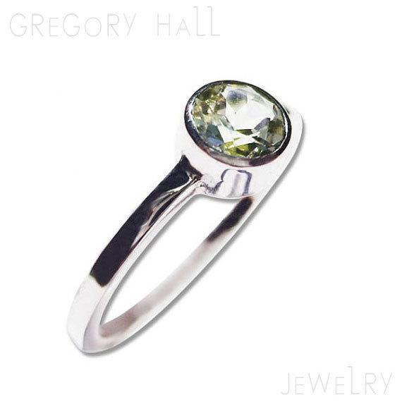 Mariage - Gemstone Engagement Ring White Gold Green Peridot Rings
