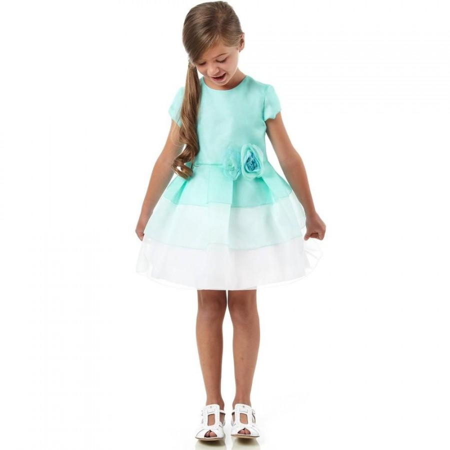 زفاف - 2015 Spring Short Sleeves Organza Ruffled Layers Roses Girls Dress Princess Dresses Flower Girls' Dresse Online with $62.66/Piece on Hjklp88's Store