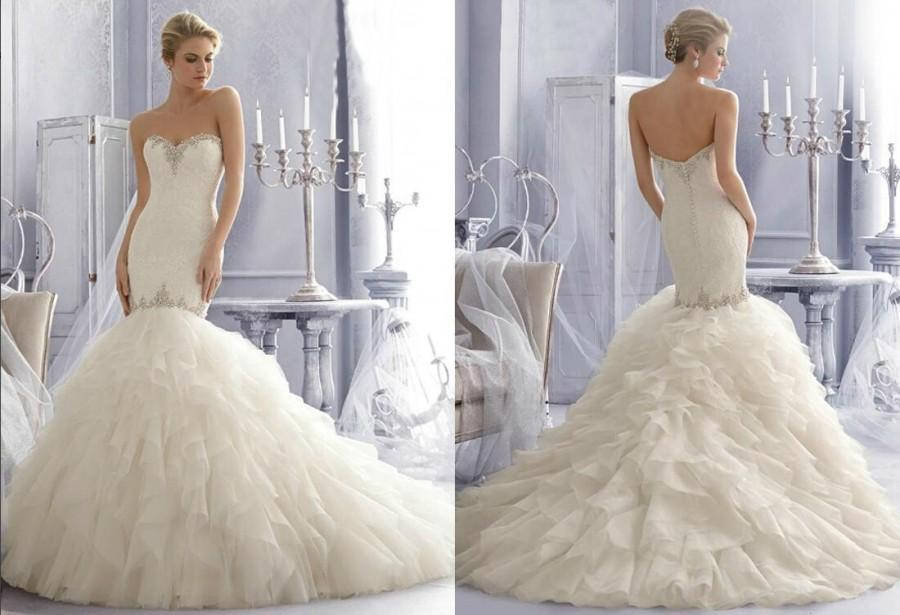 Mermaid wedding dresses with ruffles wedding dresses asian for Mermaid wedding dress with ruffles