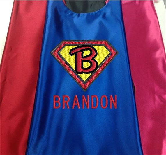 Hochzeit - Superhero KID'S's Cape,   Super Hero Cape, Kid's Cape, Superhero, Costume Cape, Superman Logo Embroidered Personalized