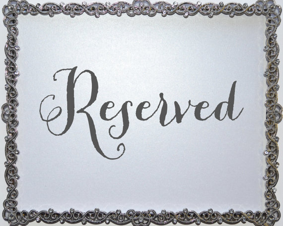 Reserved Seating Sign Wedding Signage For Reception Table Matching Decor