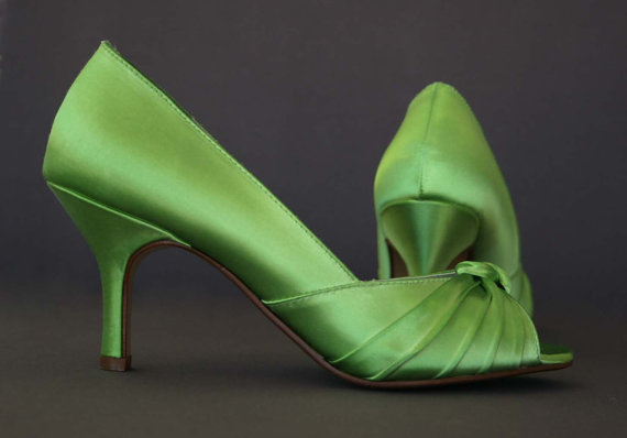 Mariage - Wedding Shoes -- Peep Toe Wedding Shoes with Knotted Detail on the Toe -- Choose Your Own Color!