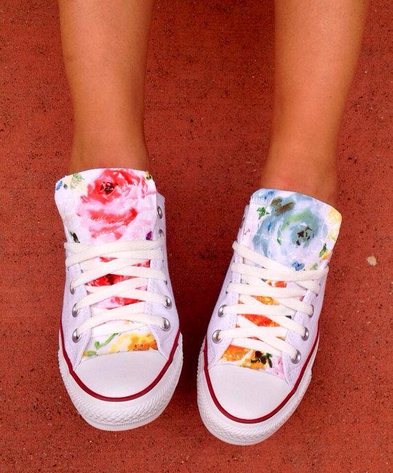 Accessories - Floral Converse Chuck Taylor Shoes #2274178 - Weddbook
