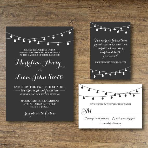 زفاف - Printable Wedding Invitation - Midnight Promise