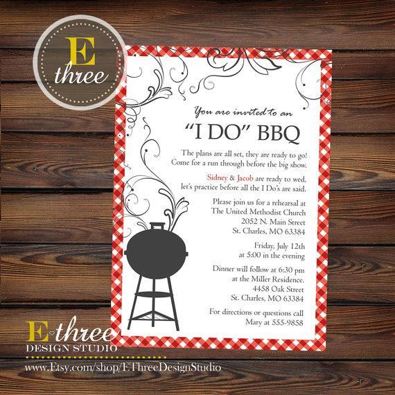زفاف - Printable Rehearsal Dinner Invitation - I DO BBQ Invitation - Rehearsal Dinner BBQ Invite