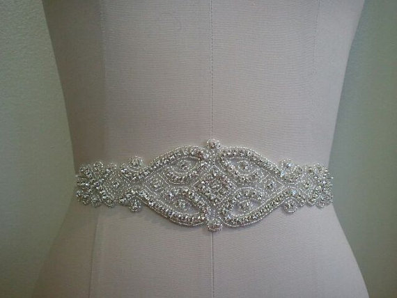 Wedding - SALE - Wedding Belt, Bridal Belt, Sash Belt, Crystal Rhinestone  - Style B2000991