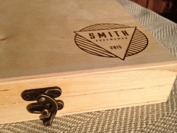 Hochzeit - Groomsmen Gift Box - Personalized Cigar Box – Engraved