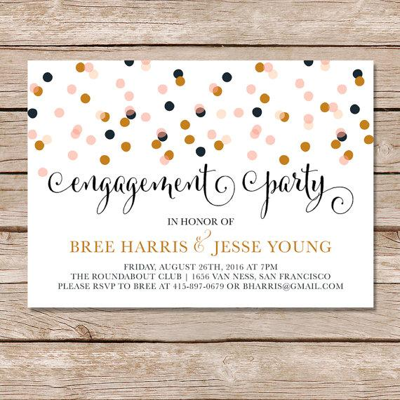 Modern engagement party invitation engagement party for Invitation for engagement party