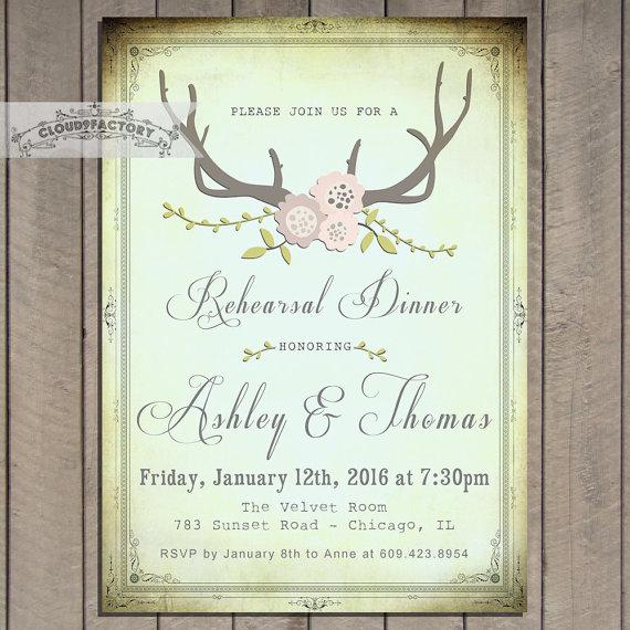 vintage pastel rehearsal dinner invitation printable digital