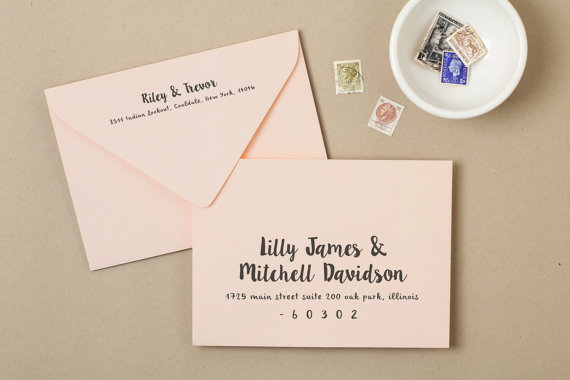 زفاف - Printable Wedding Envelope Template