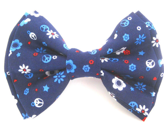 Mariage - Dog Bow Tie  Red White and Blue Bow Dog Collar Attachment  Bow Tie For Dog Small Dog Bow Tie Pet Bowtie Large Dog Bow Tie Collar Bowtie