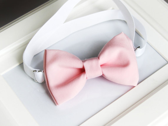 Mariage - Baby pink bow-tie for babies, toddlers, boys, teens, adults - Adjustable neck-strap