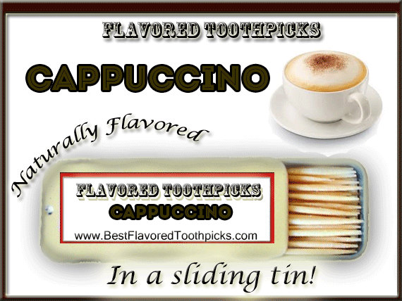 Свадьба - Cappuccino Flavored Toothpicks - 70+ Flavors! Anniversary Gifts, Engagement Gifts, Retirement Gifts, Groomsmen Gifts, Candy, Coffee Flavor