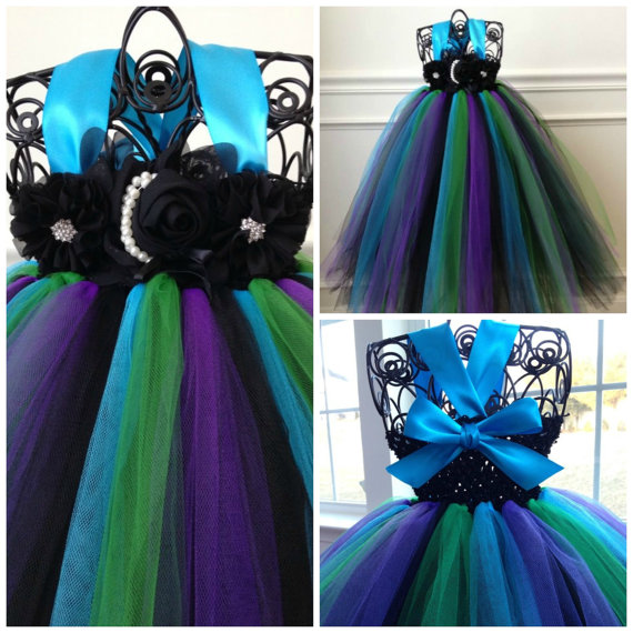 Mariage - Peacock Flower Girl Dress