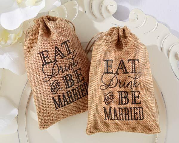 Wedding - Burlap Bag Wedding Favors (Set Of 12)