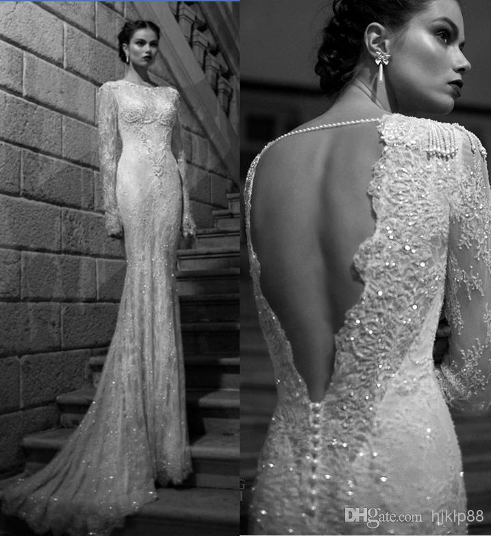 Свадьба - Berta Bridal Winter Long Sleeve Wedding Dresses Bateau Pearl Backless Mermaid Lace Wedding Gown Pretty Bridal Pleated Ruffles Wedding Dress Online with $122.19/Piece on Hjklp88's Store