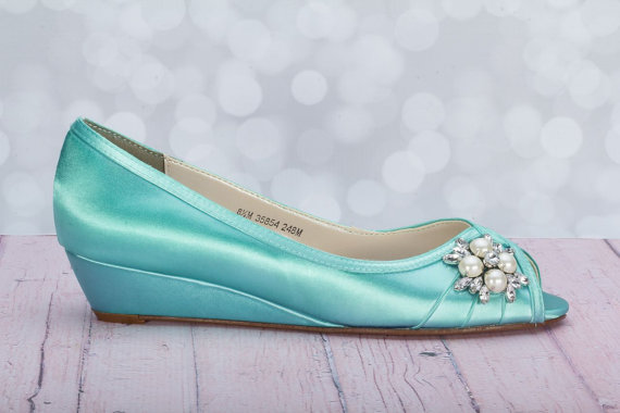 Wedge Wedding Shoes Choose From Over 100 Colors - Wide Size Wedge ...