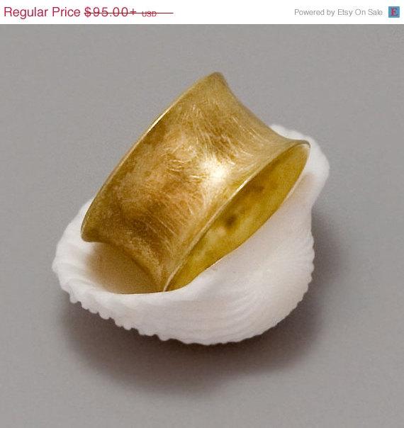زفاف - ON SALE 20% OFF Wide Gold Band Ring, Wide Gold Band, Women's Band, Wedding Band, Bridal, Weddings, Gold Coated Jewelry, Classic Ring -  Your