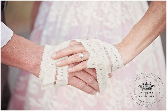 Hand Binding Ceremony Ribbon Wedding Favors Personalized Ribbon