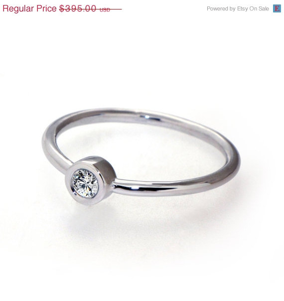 Mariage - SALE 20% Off - DeLight  Unique Engagement Ring, Solitaire Diamond  Ring, White Gold Ring Custom Italian Fine jewelry