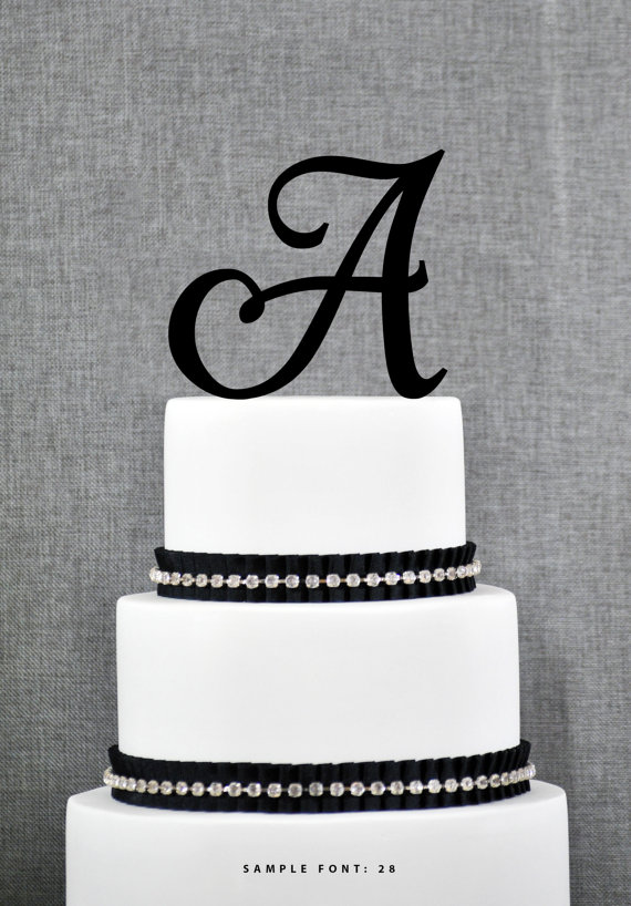 Hochzeit - Personalized Monogram Initial Wedding Cake Toppers - Letter A, Elegant Cake Topper, Unique Cake Topper, Traditional Topper