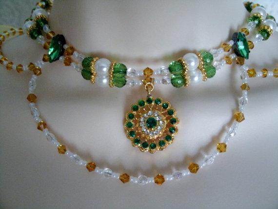 زفاف - Victorian Choker Necklace, art nouveau jewelry victorian jewelry wedding art deco steampunk reniassance medieval edwardian celtic gothic