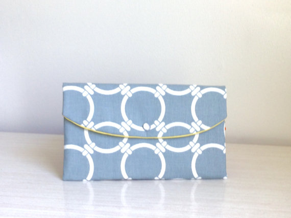 Mariage - Circles in gray clutch/ Wedding Gift Ideas/clutch/gift idea