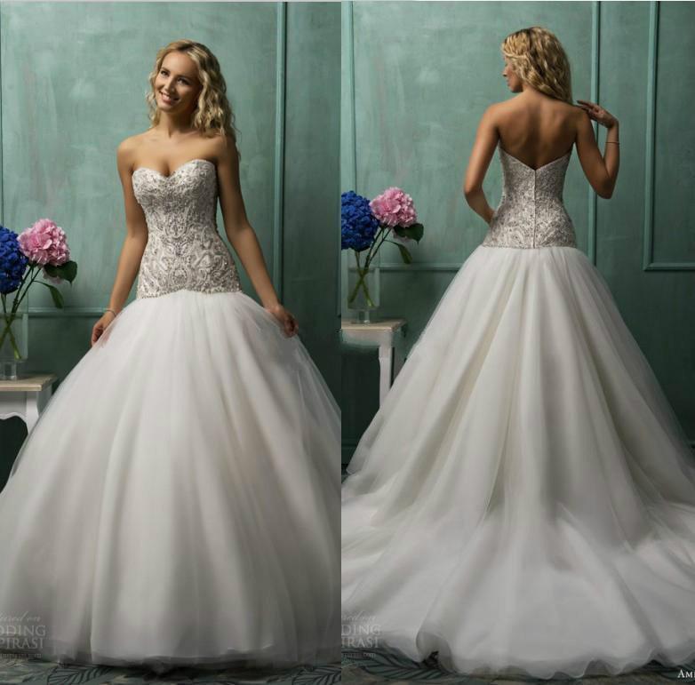 2015 A Line Wedding Dresses Vestido De Novia Sweetheart