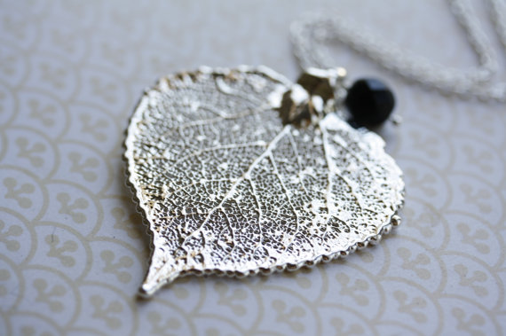 Silver aspen leaf necklace metal silver leaf pendant long genuine silver aspen leaf necklace metal silver leaf pendant long genuine silver leaf jewelry long pendant sterling silver statement necklace mozeypictures