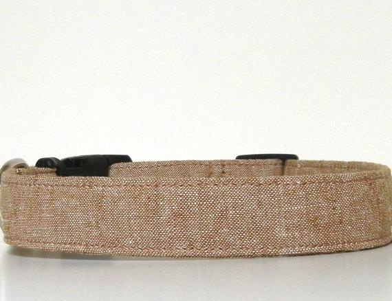 Свадьба - Brown Tweed Look Dog Collar Wedding Accessories Menswear Collar Made to Order