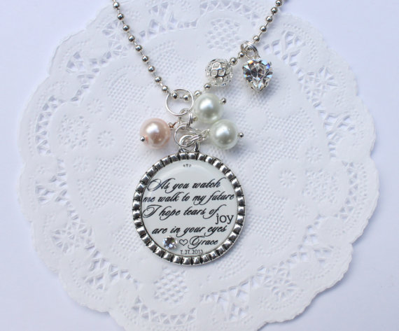 Mother Of The Bride Pendant Quote Pendant Mother Of The Bride Gift Gift For Mom On Your