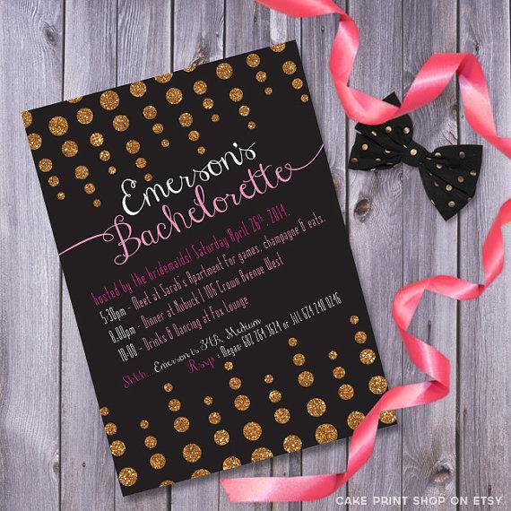 زفاف - bachelorette invite, glitter bachelorette invite, printable bachelorette, bachelorette invitation, gold glitter invite, glitter invitation