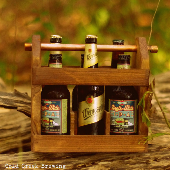 Mariage - Best Man Gift - Wooden Six Pack Carton - Beer - Beer Caddy - Husband Gift - Gift for Dad - Groomsmen Gift