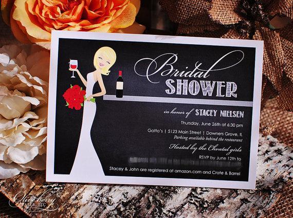 زفاف - Wine Bridal Shower Invitations