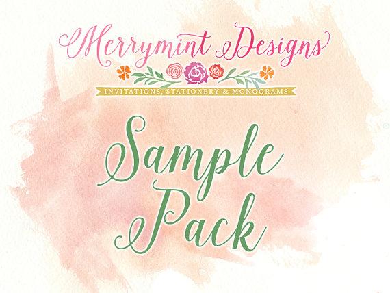 زفاف - Sample Wedding Invitation Pack - multiple designs