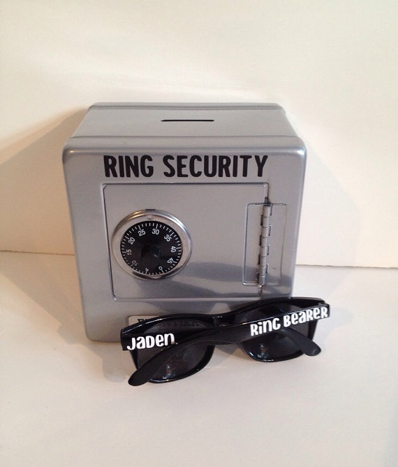Ring Security Safe AND Sunglasses Combination Kit Ringbearer Gift Agent Bearer