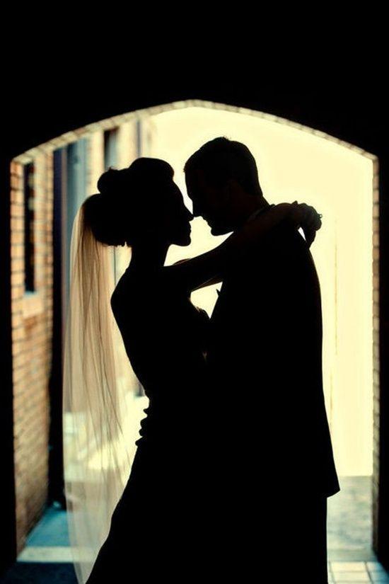 Wedding - A Silhouette Shot