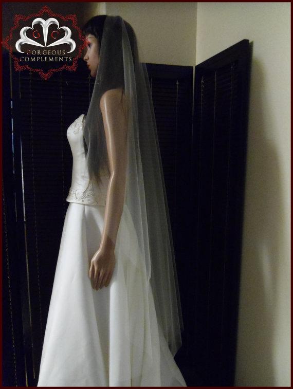 Wedding - Wedding Veil Simplicity - Cascade Waltz Cut Edge -Choose you color S5565CE