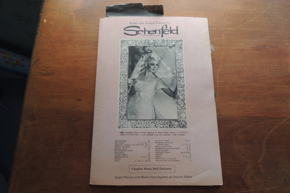 Mariage - BRIDAL FABRICS BOOKLET, Schenfeld vintage samples, material, lace, bridal veils, catalog, 1960s
