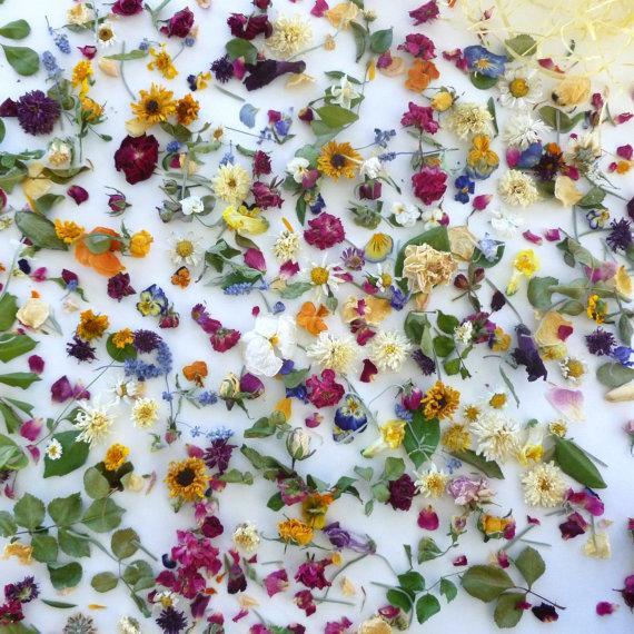 Mariage - Petal Confetti,  Dried Flower Confetti, Wedding Decorations, Dry Flowers, Wedding, Aisle Decoration, Tossing Flowers, Reception Decor, Real