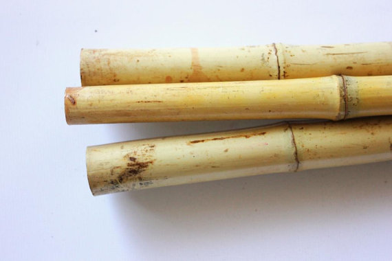 "Mariage - 10 Bamboo Poles Natural 72""  Botanical Dried Craft Tiki DIY Wedding Decor Wholesale Supplies Floral"