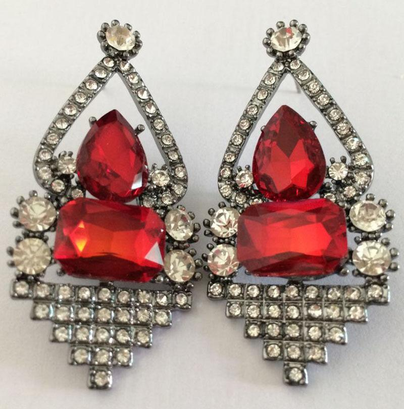 prom dottie earrings rhinestone stud pin couture boutique