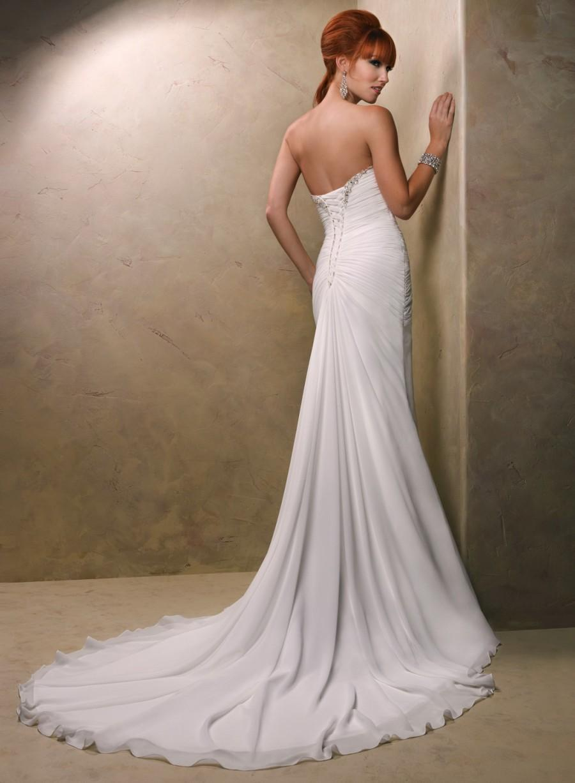 Wedding - 2014 New Style Sheath/Column Sweetheart Sleeveless Chiffon Cheap Wedding Online