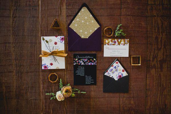 Mariage - Dramatic Jewel Toned Wedding Inspiration