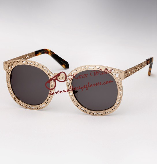 sunglasses online sale co8o  Cool Karen Walker Super Duper Critter Gold Sunglasses Sale [Super Duper  Critter Gold]