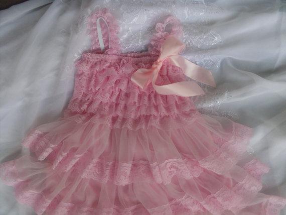 زفاف - Flower Girl Dress Pink,Country Flower Girl Dress, Pink Rustic Wedding Dress,Chiffon Flower Girl Dress, Lace Flower Girl Dress,First Birhday