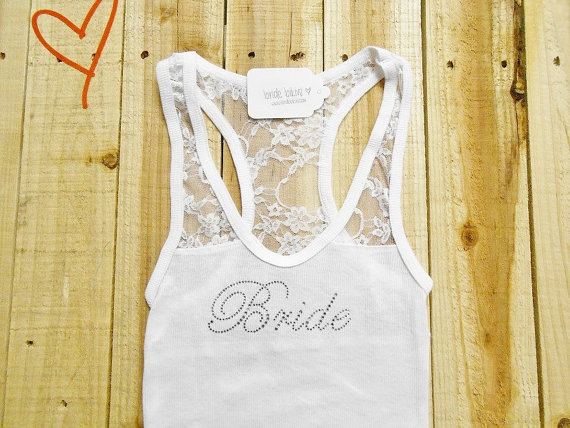 Lace Bride Tank Top