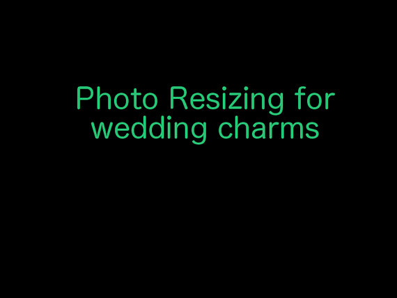 Mariage - 4 Resizing of your Photo to Perfect fit my Wedding Bouquet Charms-
