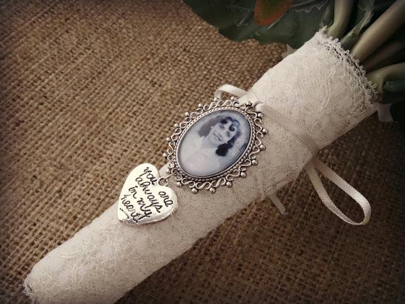 Wedding - Bouquet Photo Jewellery With Charm